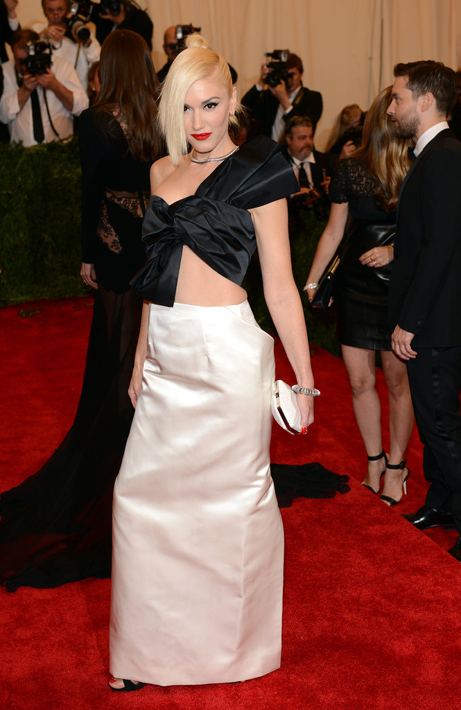 "All hail the punk princess. Gwen nailed the ""Punk: Chaos to Couture"" theme in a structured Maison Martin Margiela creation at the 2013 Met Gala."