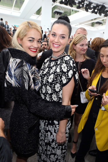 Katy Perry shared a moment with Rita Ora at the Chanel show on Tuesday.