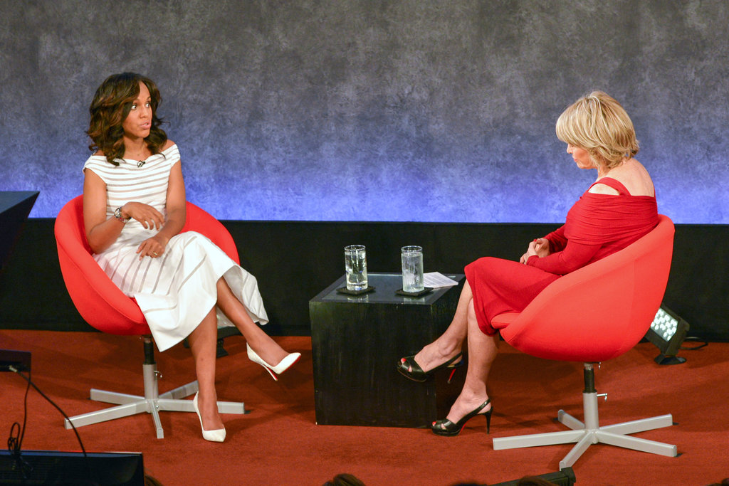 Kerry Washington talked to Pat Mitchell on stage.