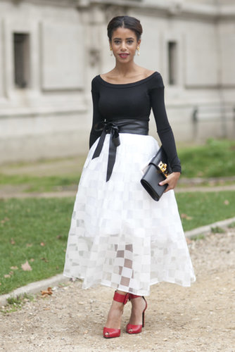 If there was ever a place to wear such a pretty skirt, it's Paris.