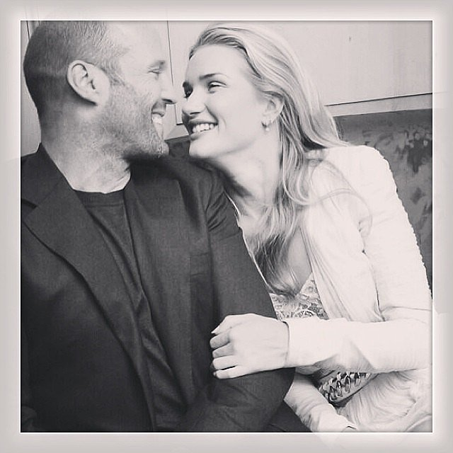 Rosie Huntington-Whiteley shared this romantic snap of her and her boyfriend, Jason Statham. Source: Instagram user rosiehw