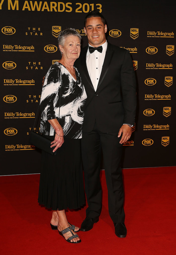 Jarryd Hayne and His Grandmother Robyn