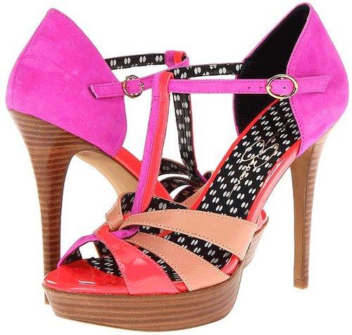 Jessica Simpson - Bentley (Fluorescent Papaya Patent) - Footwear