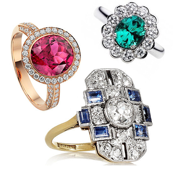 Coloured Engagement Rings