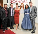 Guillermo Diaz, Joshua Malina, Katie Lowes, Darby Stanchfield, Kerry Washington, and Scott Foley posed together at their Scandal party.