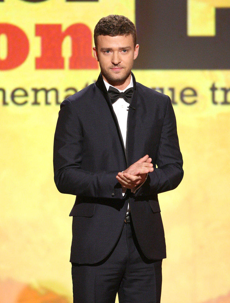 When he took the stage at the American Cinematheque Awards in 2008, he gave a new twist to his suit with a slim lapel.
