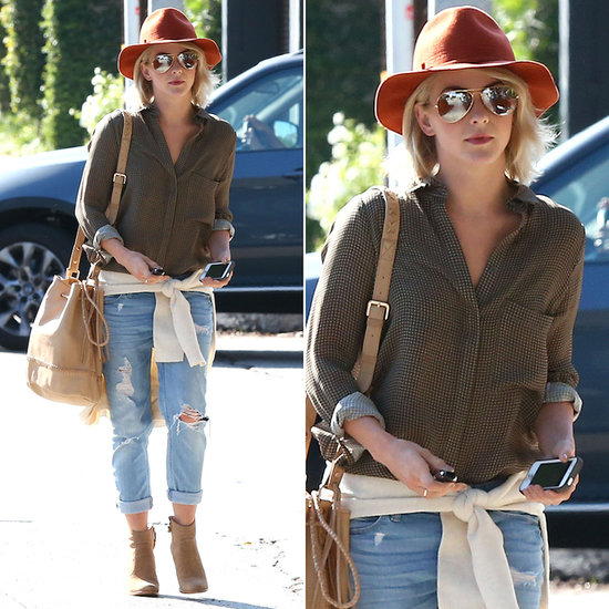 Julianne Hough was the vision of Fall while running errands around Los ...