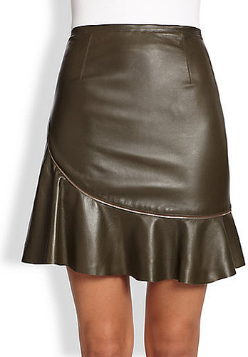 Sachin + Babi Aura Zip Leather Skirt