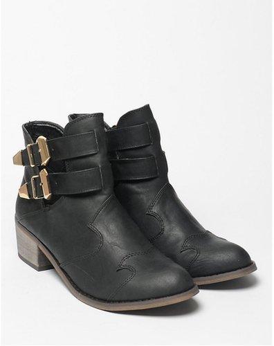 Bank Wendi Wooden Heel Boots