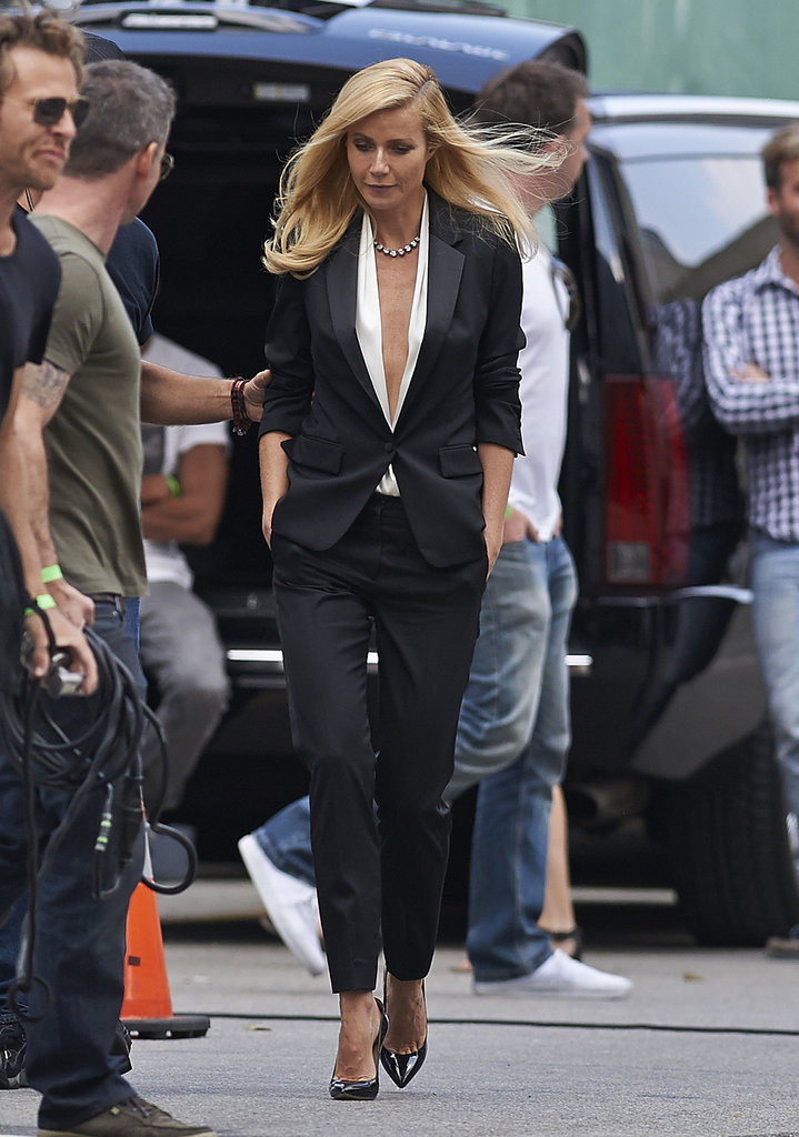 Gwyneth Paltrow filmed in LA on Thursday.