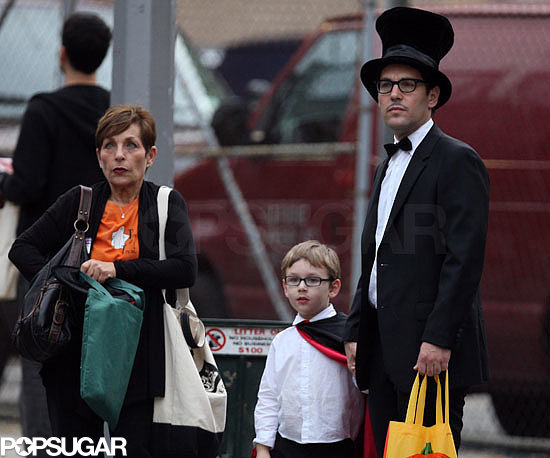 Paul Rudd and his son headed out in New York's West Village to collect candy on Halloween in 2009.