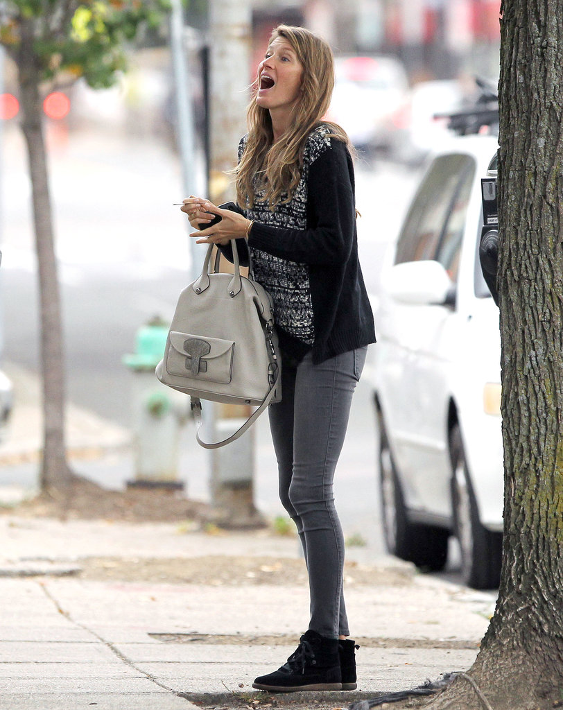 Gisele Bündchen made a funny face in Boston.
