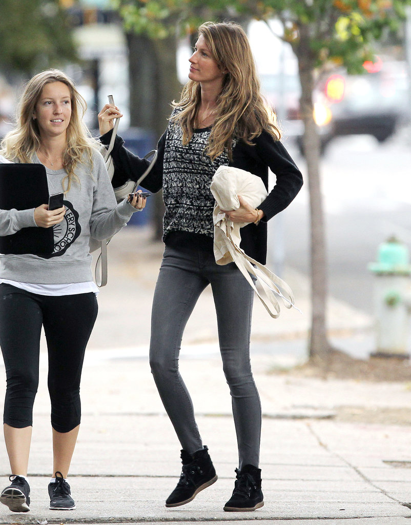 Gisele Bündchen walked with a female friend.