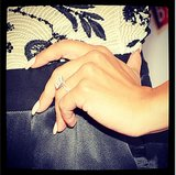 E! Online shared a snap of Naya Rivera's gorgeous engagement ring . . . and killer manicure.  Source: Instagram user eonline