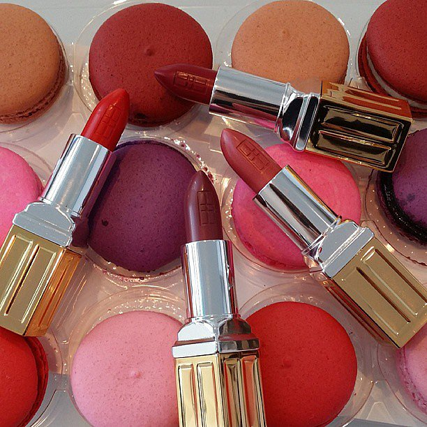 Eva Chen shared matching macarons and lipsticks. Was there ever a better combination? Source: Instagram user evachen212