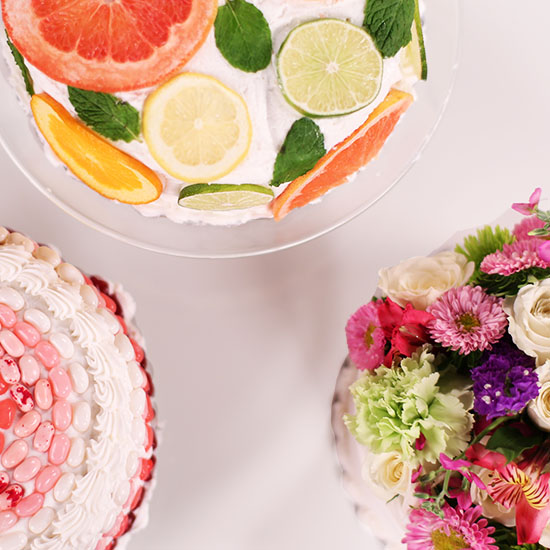 3 stunning ways to dress up a store-bought cake