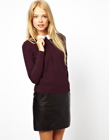 ASOS Sweater With Lace Collar Detail