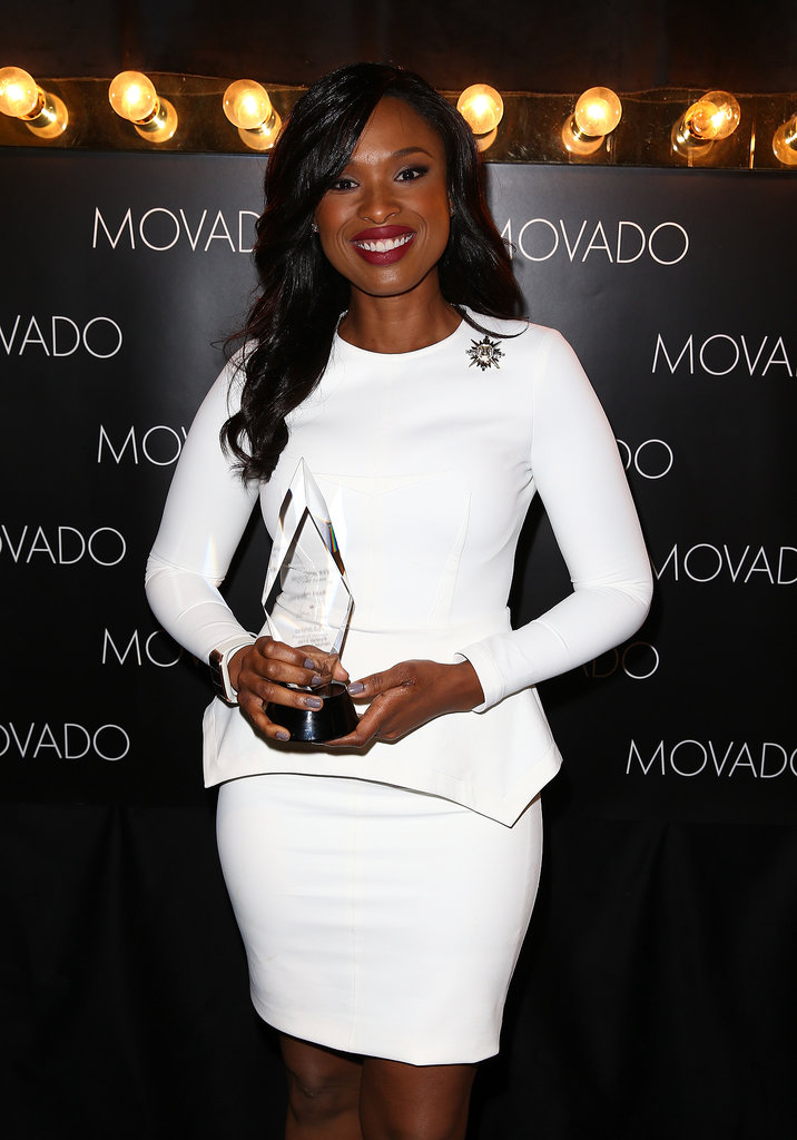 Jennifer Hudson cradled her award after accepting it.