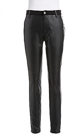 Faux Leather and Ponte Pant