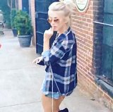 Julianne Hough danced down the streets of Atlanta in a leg-baring ensemble. Source: Instagram user juleshough