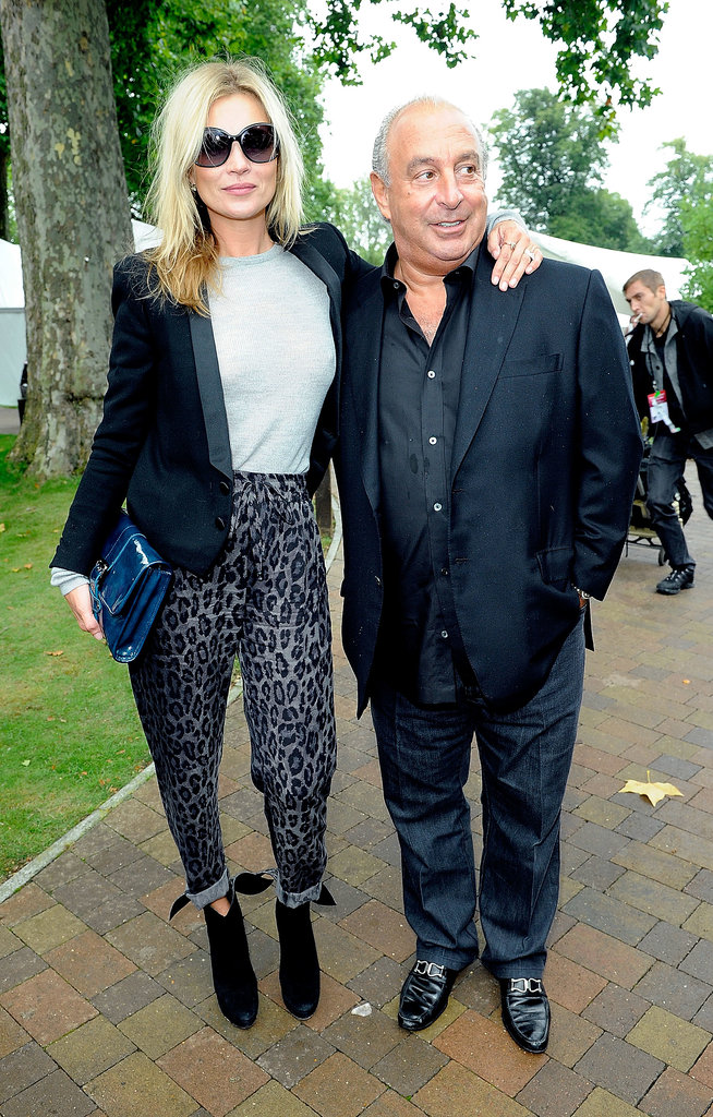Moss and Greene outside Topshop Unique's Spring 2014 show in London. Photo courtesy of Topshop