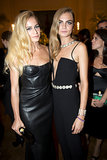 Alice Dellal and Cara Delevingne made a smoldering pair in shapely black columns at the amfAR Inspiration Gala in Rio.