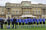 Prince William addressed the players before the match.
