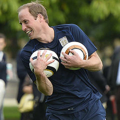 Prince William Playing Soccer at Buckingham Palace
