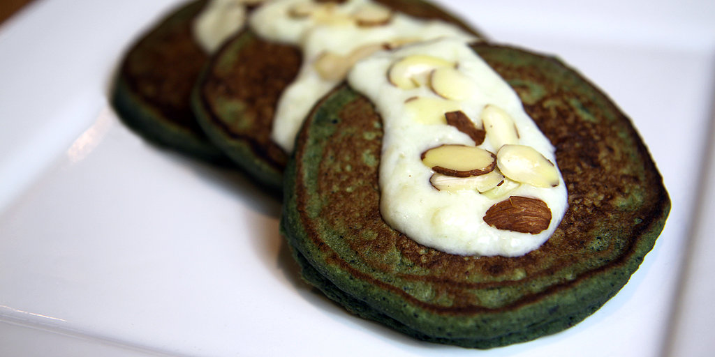 Leprechaun-Approved Blueberry Banana — and Spinach! — Pancakes