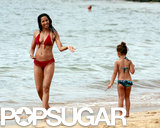 Padma Lakshmi hit the beach with her daughter, Krishna, in Honolulu.