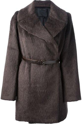 Marc Jacobs belted fur jacket