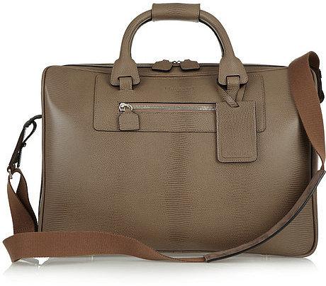 Moncrief Lizard-embossed leather weekend bag