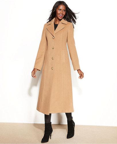 Anne Klein Petite Coat, Wool-Cashmere-Blend Maxi Walker
