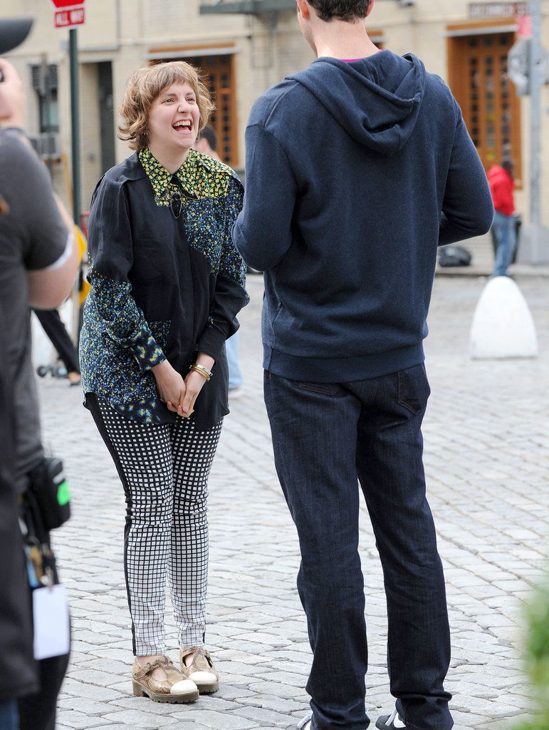 Lena Dunham laugher her way through an interview with Billy on the Street.