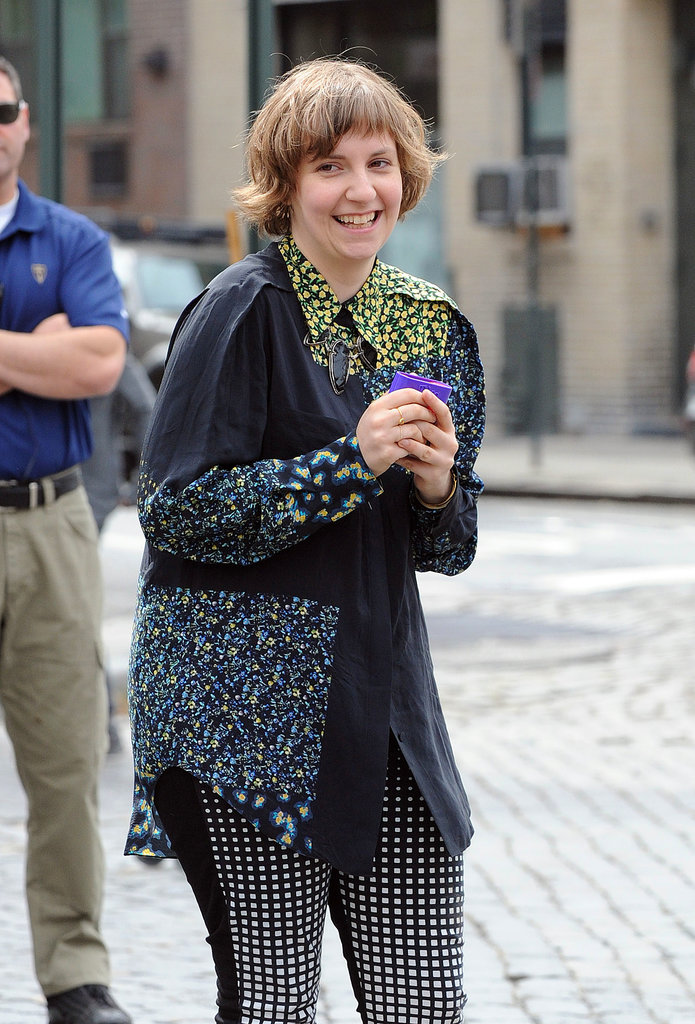Lena Dunham seemed giggly during her Wednesday interview.