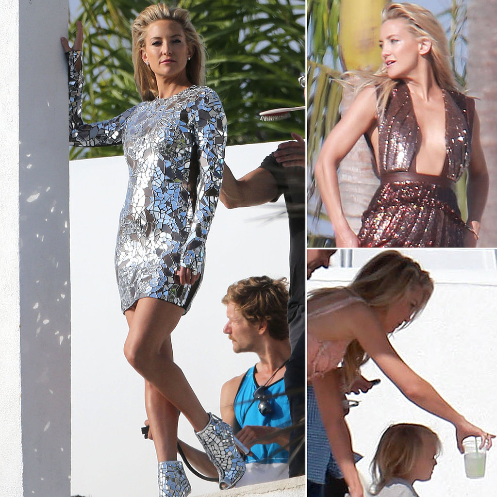 Kate Hudson Mixes Model and Mom Duty