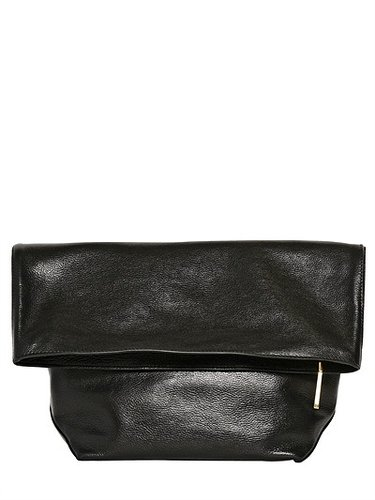 Large Pilade Nappa Leather Rolled Clutch