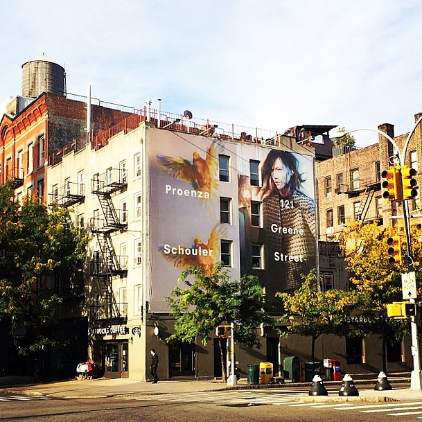 And we thought we were excited to see Proenza Schouler's billboards! Source: Instagram user proenzaschouler