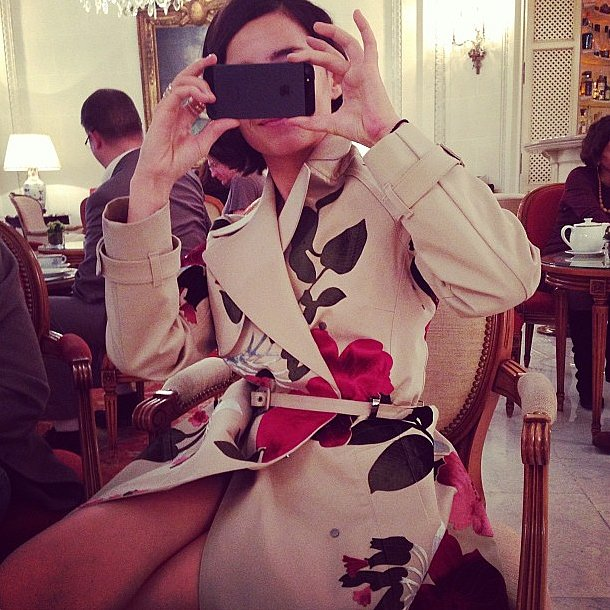 When Natalia Vodianova snapped Miroslava Duma, she clicked right back. Source: Instagram user natasupernova