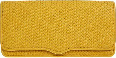 Rebecca Minkoff Woven Honey Clutch