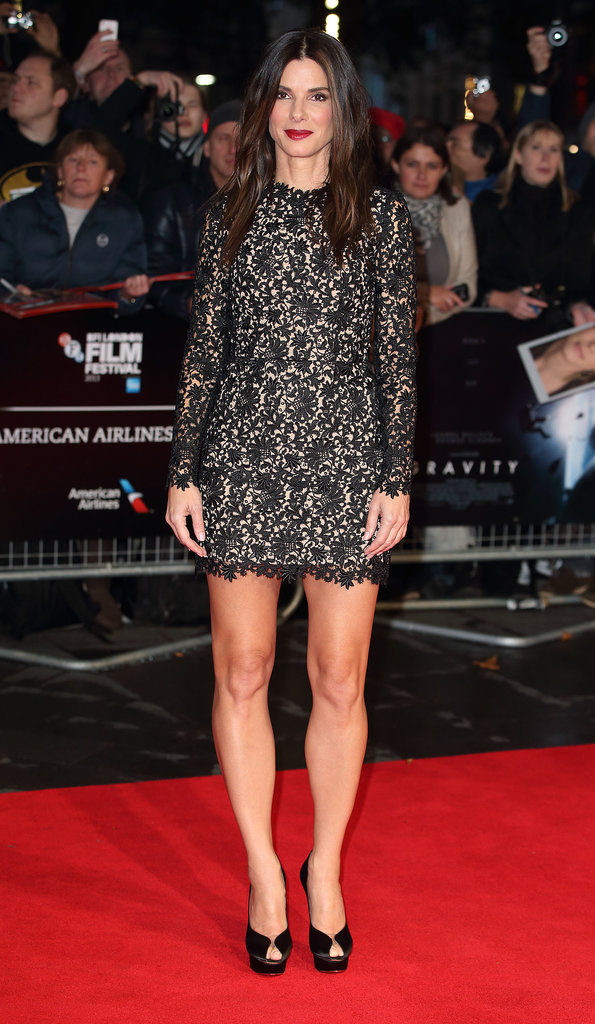 Sandra Bullock in Stella McCartney at the London Premiere of Gravity