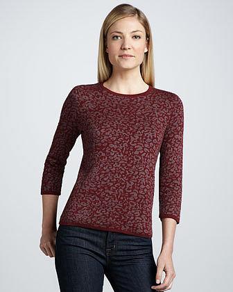 Belford Shimmery Animal Jacquard Sweater