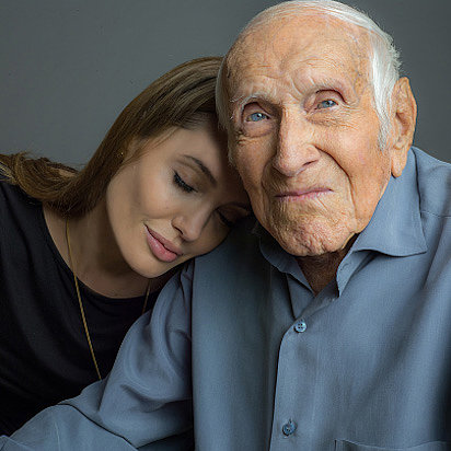 Angelina Jolie and Louie Zamperini