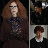Frances Conroy Conroy is now playing Myrtle Snow, an employee of the boarding school for witches, in Coven. She's has been a constant presence on the show, playing a smaller spot as the Angel of Death on Asylum and the Harmon family's maid Moira O'Hare, from season one.