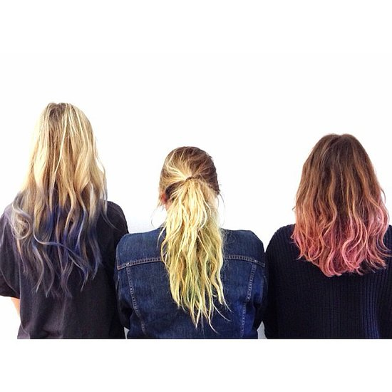 As if we needed another reason to try hair chalking. Source: Instagram user byrdiebeauty
