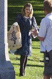 Kristen Bell got to work on House of Lies in LA on Monday.