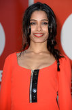 Keep the top of your braid mussed up for a casual look like Freida Pinto's.