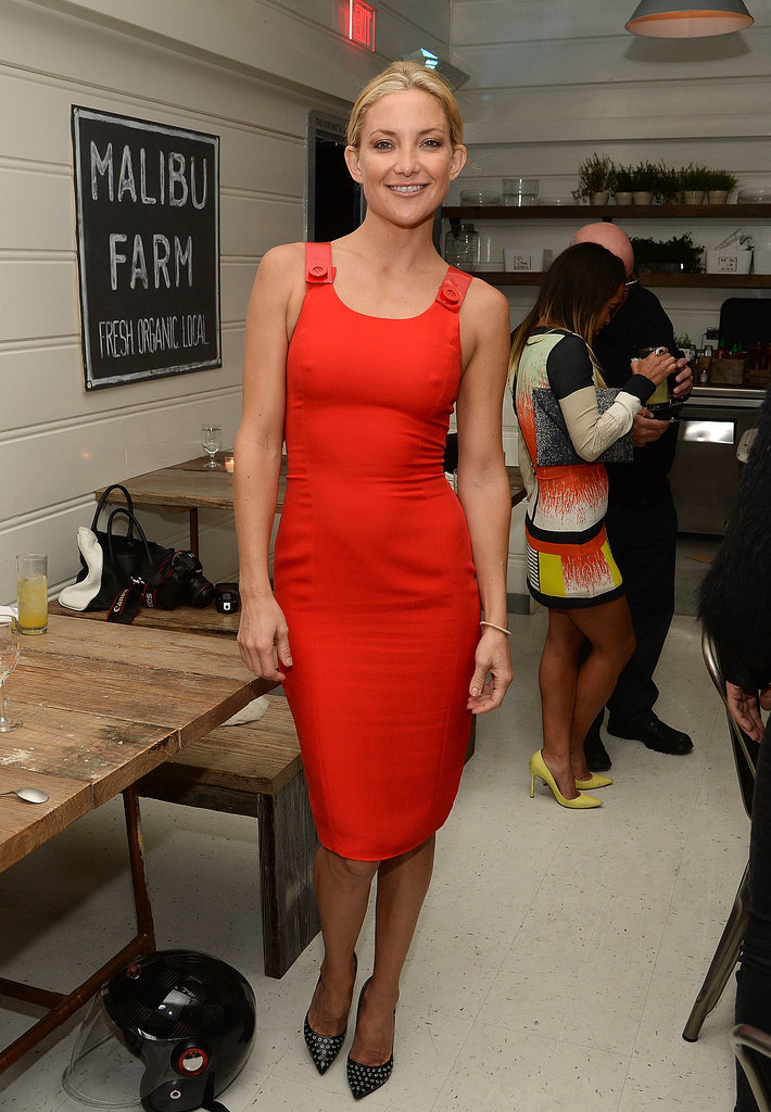 Kate Hudson was stunning in her little red dress.
