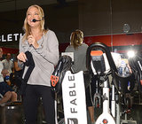 Kate Hudson hosted a cycling class to celebrate her new line of activewear.
