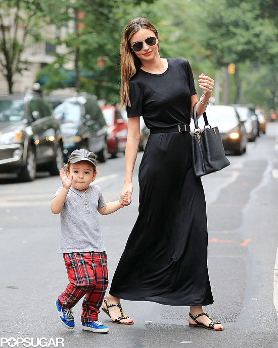 Miranda Kerr went to lunch with her adorable son, Flynn, after landing back in NYC following a successful return to the runway during Paris Fashion Week.